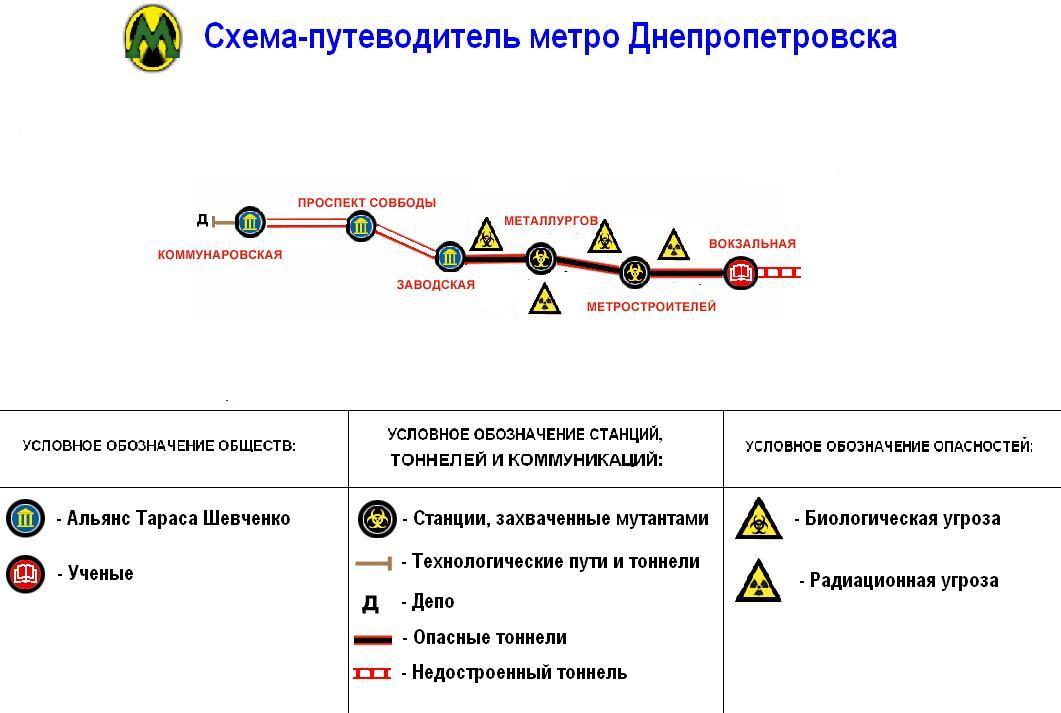 карта метро 2033